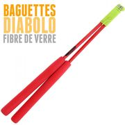 Diabolo Roulement Orange + Baguettes Pro Rouge + Sac + Ficelle Jaune