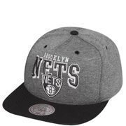 Brooklyn Nets Homme Snapback Basketball Gris Mitchell & Ness