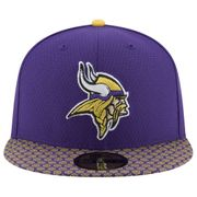 Casquette NFL Minnesota Vikings New Era On Field 2017 59FIFTY Violet taille casquette - 7 1/8 (56.8cm)