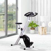 Vélo d'appartement cardio Fitness pliable écran LCD 8 niveaux de résistance selle réglable noir