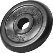 Gorilla Sports - Poids disque en caoutchouc de 1,25 kg