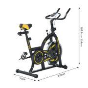 Vélo d'appartement Fitness professionnel cardio vélo biking capteur pouls volant d'inertie 10 Kg écran LCD noir et jaune neuf 20