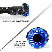 Hoverboard Colorway CX911 - Bluetooth + APP - 6.5 Pouces Camouflage, Gyropode Overboard Smart Scooter certifié