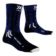Chaussettes X-Bionic Trek X Merino bleu marine noir blanc