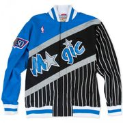 Warm up NBA Orlando Magic 1996-97 Mitchell & Ness Authentic Jacket Noir pour Homme taille - M