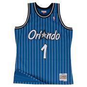 Maillot NBA swingman Anfernee Hardaway Orlando Magic Hardwood Classics Mitchell & ness Bleu taille - S