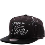 Brooklyn Nets Homme Snapback Basketball Noir Mitchell & Ness