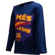 Tee shirt manches longues FCB Barcelone Club  Taille de 3 é 8 ans  - 4 ans bleu