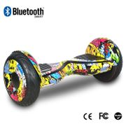 COOL&FUN Hoverboard 10 pouces avec Bluetooth , Gyropode Overboard Tout terrain Certifié CE ROHS, Hip
