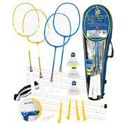 KIT BADMINTON - PACK BADMINTON - ENSEMBLE BADMINTON CDTS Ensemble Badminton 4 Raquettes + Ballon Multi-Jeux Taille 5.