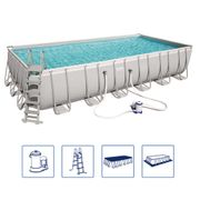 Bestway Ensemble de piscine Power Steel Rectangulaire 56474