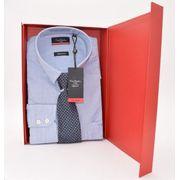 Coffret Cadeau Chemise Homme Pierre Cardin Bleu A Rayures Avec Cravate