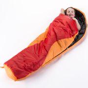Shetland Junior - Sac de couchage enfant momie - 175 x70 cm - Orange/Rouge
