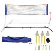 Filets de badminton Inedit Filet de badminton avec volants 500 x 155 cm