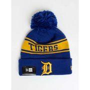 Bonnet MLB Detroit Tigers à pompon New Era Seasonal Jake bleu
