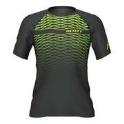 T-shirt Scott RC Run manche courte noir jaune fluo femme