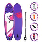 Stand up paddle gonflable CARVER 9' (274cm) 30'' (76cm) 5'' (12,7cm) - SUP avec dérive centale et support caméra, livré avec pompe, Pagaie et Sac de transport