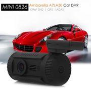 Dashcam camera dvr autoMINI 0826 caméra vidéo 1.5 pouces TFT écran GPS avec 1296P résolution SHD supportant ADAS