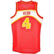 Maillot NBA Spud Webb Atlanta Hawks 1986-87 Mitchell & ness swingman Hardwood Classics Rouge taille - M