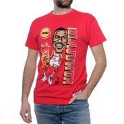 Caricature Houston Rockets Homme Tee-Shirt Basketball Rouge Mitchell & Ness