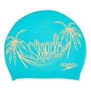 Bonnet de natation Speedo Slogan Print Cap bleu