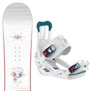 SALOMON Lotus Snowboard+Spell Fixations Femme