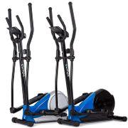 Vélo elliptique Elitum MX400 Nordic Walking ,Crosstrainer résistance réglable 8 niveaux, max. 120 kg (Argenté)