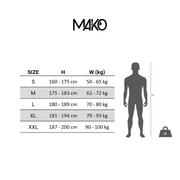Combinaison néoprène Mako Nami 2.0 noir bleu rouge
