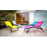 O'Colors - Fauteuil Relax Gris - Structure Pliable et Très Confortable
