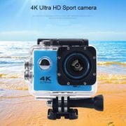 HAMTOD- H9A HD 4K Caméra sport WiFi avec boîtier étanche, Generalplus 4247, écran LCD 2.0 pouces, objectif grand angle 120 degrés (Noir)