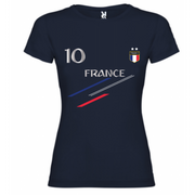 Maillot - tee shirt foot France 2 �toiles femme Taille S au XL