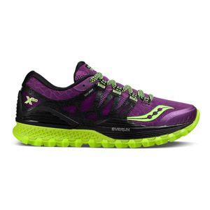 running femme SAUCONY Chaussures Saucony Xodus ISO lilas noir vert femme