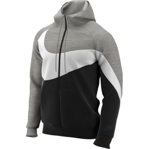 SWEAT SHIRT Training homme NIKE NSW HBR HOODIE FZ FT STMT, NOIR
