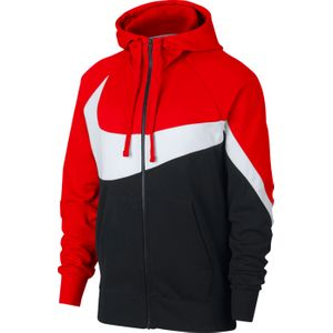 SWEAT SHIRT Training homme NIKE NSW HBR HOODIE FZ FT STMT, ROUGE