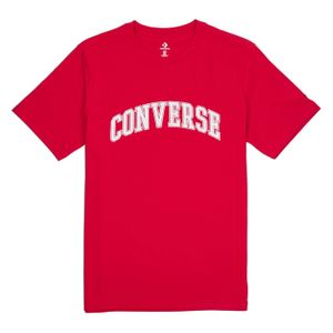 TEE SHIRT Multisport homme CONVERSE COLLEGIATE TEXT SS TE, ROUGE