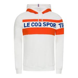 SWEAT SHIRT Training homme LE COQ SPORTIF ESS SAISON HOODY N°2 M, BLANC/ORANGE, L