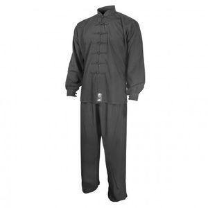 Sport de combat adulte FUJI MAE Tenue de taichi noire coton Fuji Taille - 160cm