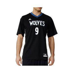Mode- Lifestyle homme ADIDAS Maillot Minnesota Timberwolves Ricky Rubio noir Basketball Homme Adidas
