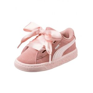 Mode- Lifestyle fille PUMA Chaussures Puma Ps Suede Heart Jewel V - Peach Beige / Pearl