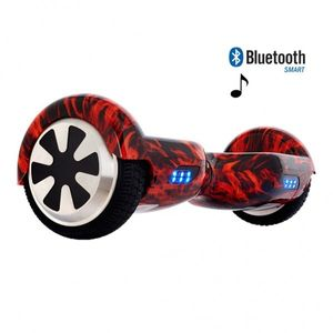 Glisse urbaine  AIR RISE Hoverboard 6,5 Pouces Flamme Bluetooth+ sac de transport+ télécommande