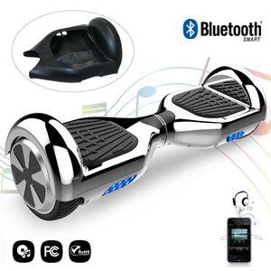 Glisse urbaine  COOL&FUN COOL&FUN hoverboard gyropode Bluetooth 6.5 Pouces Argenté + Housse en silicone protection pour hoverboard  Gyropode 6,5 pouces, noir