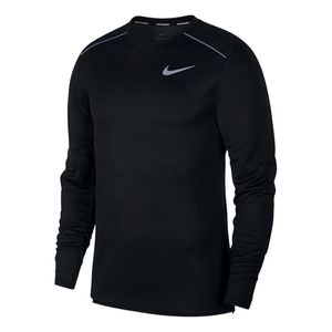 running homme NIKE T-shirt Nike Dri-Fit Miler manche longue noir