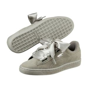 Mode- Lifestyle femme PUMA Chaussures cuir suede lacets canvas HEART PEBBLE