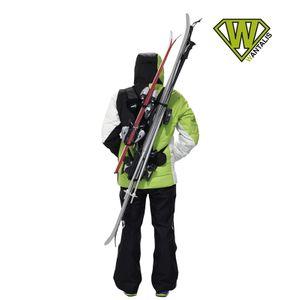 running  WANTALIS Porte ski SKIBACK double adulte -noir