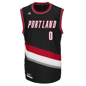 ADIDAS Maillot Portland Blazers Adidas Performance Replica Maillot Portland Trail Blazers Damian Lillard NBA