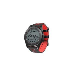 Objet connécté - high tech  auto-hightech Montre Bracelet Bluetooth 1.1 pouces IP68 imperméable à l'eau soutien caméra à distance - noir + rouge