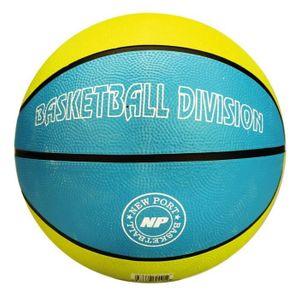 GENERIQUE BALLON DE BASKET-BALL NEW PORT Ballon de basketball - Bleu et jaune - Taille 7