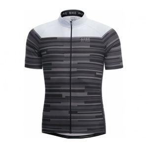 Cycle homme GORE RUNNING WEAR® GORE BIKE WEAR® - Element Stripes maillot de cyclisme pour hommes (noir/blanc)