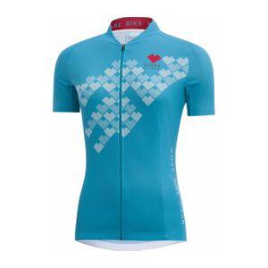 Cycle femme GORE RUNNING WEAR® GORE BIKE WEAR® - Element Digi Heart maillot de cyclisme pour femmes (bleu clair)