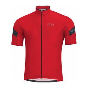 Cycle homme GORE RUNNING WEAR® GORE BIKE WEAR® - Power 3.0 maillot de cyclisme pour hommes (rouge/noir)